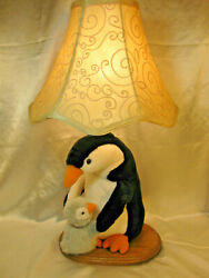 PENGUIN AND BABY BEDROOM LAMP $35.00