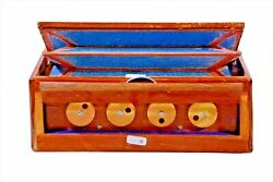 Manual Shruti Box Swar Peti Swarpeti Natural Wood Color 12 notes Indian musical $99.99