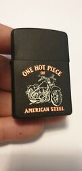 Old and Rare Zippo Lighter ONE HOT PIECE OF AMERICA STEEL $120.00