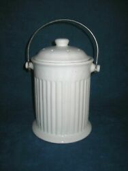 Vintage Ceramic Kitchen Countertop COMPOST FOOD SCRAP CONTAINER w Wire Handle $11.24