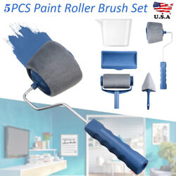 8Pcs Paint Roller Brush Set Runner Handle Household Wall Room Painting Tools Kit $12.91