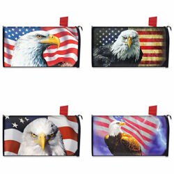 American Flag And Animal Eagle Printed Magnetic Mailbox Covers Garden Decoration $17.99