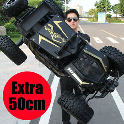1 8 4WD RC Car Monster Truck Off Road Vehicle Remote Control Buggy Crawler Black $63.99