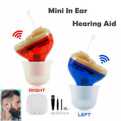 US 1 Pair Invisible CIC Hearing Aid Mini In Ear Sound Voice Enhancer Amplifier $56.99
