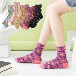 New Star Socks Girls Cotton Embroidery Long Harajuku Autumn Winter Socks $5.80