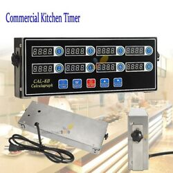 8 Channel Commercial Kitchen Digital Timer Calculagraph Loud Countdown Clock