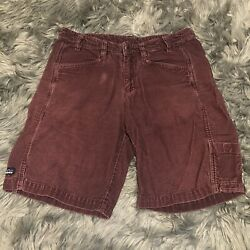 Patagonia Corduroy Cords Womens Stretch Straight Size 28 Shorts Vintage Maroon $19.99