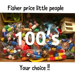 Vintage Fisher Price Little People 100#x27;s to choose from sesame street $4.99