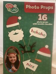 Christmas Photo Props With Wooden Handles: 16 CT New $14.98