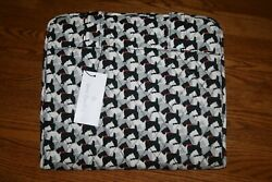 Vera Bradley HANGING TRAVEL ORGANIZER SCOTTIE DOGS large cosmetic black NEW $49.75