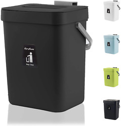 KaryHome Kitchen Compost Bin for Counter Top Hanging Small Trash Can with Lid U $22.17