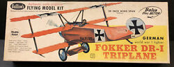 Guillow#x27;s Fokker DR 1 WW 1 Triplane Balsa Wood Flying Model Airplane Kit NIB 20quot; $29.99