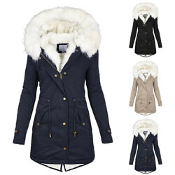US Women Fur Collar Winter Warm Thicken Quilted Coat Puffer Jacket Parka Outwear $48.63
