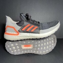 Size 12 Mens Adidas Ultraboost 19 Black Solar Orange Running Shoes G27516 🔥 $100.00