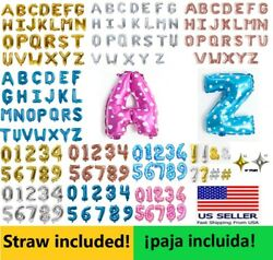 "16"" Alphabet Letter Number Foil Balloons Mylar Celebration Party all occasion $1.99"