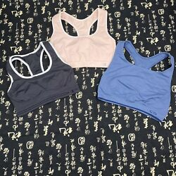 Lot Of 3 Champion Sports Bras Size XL Navy Pink Blue EUC $26.98