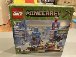 LEGO Minecraft 21131 The Ice Spikes 454 pieces New Open box Ice Golem Retired 8 $104.95