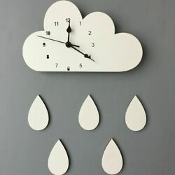 12mm Sheets Geometric Cloud Patterns Clock Antique Styles Needle Wall Clocks New $19.05