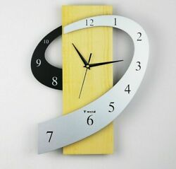 Iron Abstracts MDF Wall Clocks Geometric Single Face Needle Antique Styles Clock $86.01