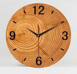 Antique Styles Wooden Bamboo Wall Clocks 1000g 35cm 9mm Sheets Clock Home Decors $39.38