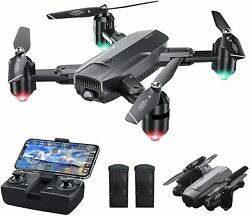 Dragon Touch DF01 Foldable Drone with Camera for Adults WiFi FPV Drone with 120 $124.90