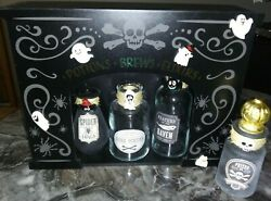 12quot; TARGET Halloween Customized 4 Wicked Glass Potions Wood Display Box 6pcs Set $19.00