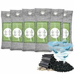 6 Pack Air Purifying Bag Nature Fresh Style Charcoal Bamboo Purifier Mold Odor $11.99