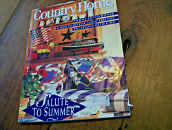 Country Home June 1994 Painted Furniture Collector Beads Folk Art $2.75