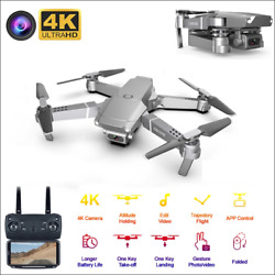 1080P 4K E68 RC Drone 4 Axis Aircraft Foldable Quadcopter FPV HD WiFi Camera $51.99