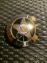 Fugitive Recovery Agent Badge Only Dog The Bounty Hunter Gold Cyber Deals $15.99