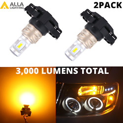 LED Yellow Front Turn Signal Light Lamps for Land Rover LR4 BMW X5Blinker Bulbs $24.98