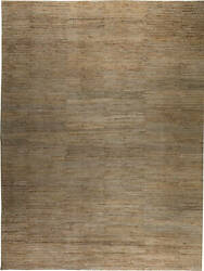 Oversized Contemporary Rustic Golden and Pale Gray Hemp Rug N11716 $20000.00
