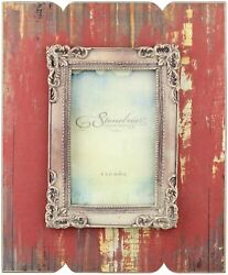 Antique Red 4quot; x 6quot; Red Photo Frame by Stonebriar $17.95