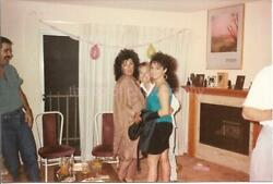 Party Girls FOUND PHOTO 80#x27;s Color FREE SHIPPING Original Snapshot VINTAGE 08 5 $9.88