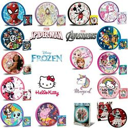 Licensed Wall Design Clocks Support Teaching Time Kids Room Decoration Gift GBP 8.49