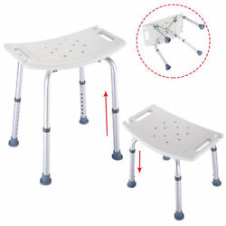 NewBath Shower Chair Adjustable Medical 8 Height Bench Bathtub Stool Seat White $12.99