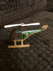 Vintage 1979 Tonka Helicopter Military Camo brown green plastic $8.50