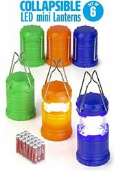 Mini Collapsible LED Lantern Camping Emergency Light Kids Party Favors 6 Pack $43.66