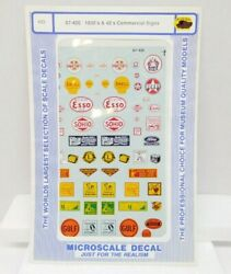 MICROSCALE #87 420 HO SCALE 1930#x27;S amp; 40#x27;S COMMERCIAL SIGNS