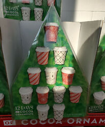 12 Days Of Cocoa Ornaments Christmas Tree Ornaments Hot Cocoa Mix In Coffee Cup $35.88