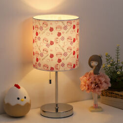 HAITRAL Table Lamp Small Beside Lamp Lamp Shade Printed with Bear Pattern $22.99