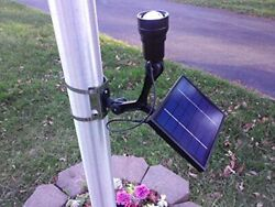 CREE Fixed Commercial Solar Flagpole Light *POWERFUL* Adjustable Spot to Flood