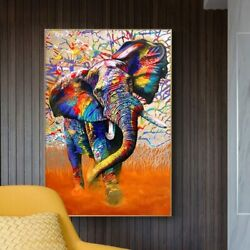 Graffiti Canvas Art Wall Painting Posters And Prints Canvas Elephant Picture Art $19.98