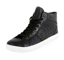 MIGGY MENS HIGH TOP SNEAKERS SIZE 7 BLACK *BRAND NEW* $39.95