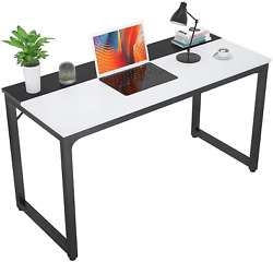 Computer Desk Black amp; White Office Desk Workstation Home Gaming Laptop Table $82.16