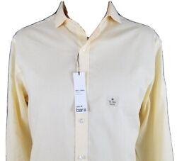 Bar lll Mens Dress Shirt Slim Fit Stretch Easy Care Long Sleeve Pale Yellow NEW $9.09