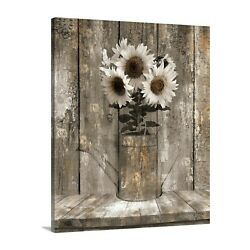 Rustic Sunflower Farmhouse Dinning Room Kitchen Canvas Home Decor Artwork $49.99