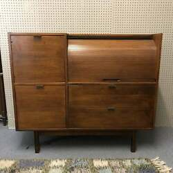 Rolltop walnut Vintage Desk by Hooker Mainline c1960s. MCM $725.00