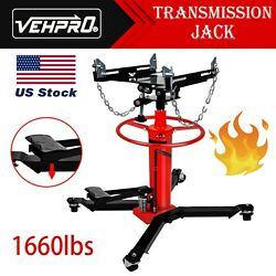 1660lbs 2 Stages Hydraulic Transmission Jack with 360° Swivel Wheels Lift Hoist $188.88