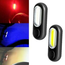 4x Led Bicycle Tail Light Bike Rechargeable Usb Safety Warning Rear Lamp Lights $10.56
